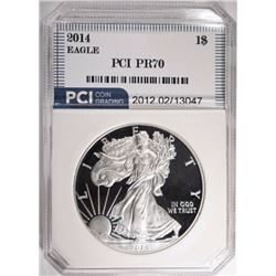 2014-W AMER SILVER EAGLE, PCI PERFECT GEM PROOF