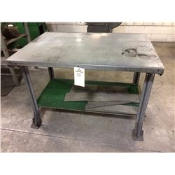 "Heavy Duty steel work table 48""x 33""x 34"""
