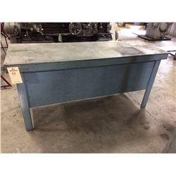 Heavy Duty Steel table 6' x2 'x 35""