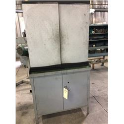 Heavy duty  Steel work bench/cabinet with contents