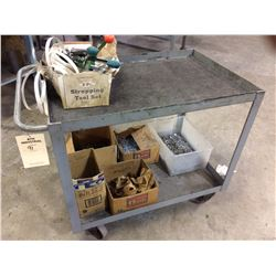 Shop cart with contents nails and bander