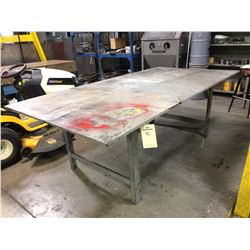 "Steel welding table 96"" x 48"" X  33"" 3/4"" thick"