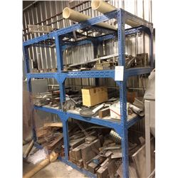"Heavy duty  Steel rack with contents 86"" x 37"" X 84"""