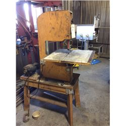 Vertical band saw structure is wooded