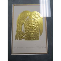"3 FRAMED BILL REID PRINTS. ""THE RAVEN AND FIRST MEN"", ""THE RAVEN STEALS THE SALMON"" AND ""HAIDA EAGLE"