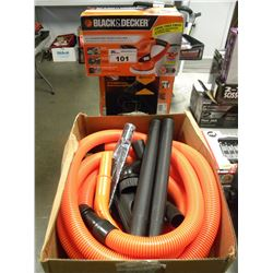 "BLACK & DECKER 6"" RANDOM POLISHER/SUMP PUMP AND VAC HOSE ATTACHMENTS"