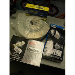 2 TRUCK ROTORS/HIGH INTENSITY DISCHARGE LAMP KIT/CLIP ON TOW MIRRORS/IDLER ARM