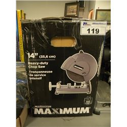 "14"" MASTERCRAFT MAXIMUM CHOP SAW IN BOX"