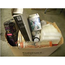 BOX OF MISC HOUSEHOLD GOODS