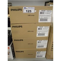 4 BOXES OF 6 PHILIPS 120V LIGHTS