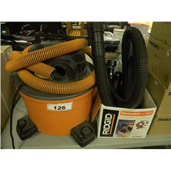 RIDGID SHOP VAC WITH ACCESSORIES
