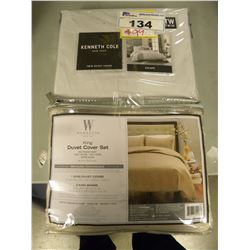 KENNETH COLE TWIN DUVET COVER/WANSUTTA KING 400 THREAD COVER SET