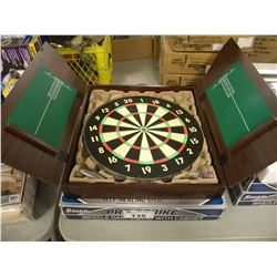 2 BRISTLE DARTBOARDS WITH CABINET