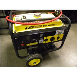 CHAMPION 4000 PEEK WATTS/3500 RUNNING WATTS GAS GENERATOR