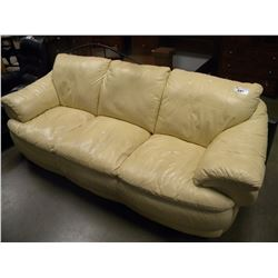 CREAM COLOURED LEATHER SOFA