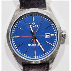 TIMEX WATER RESISTANT GENUINE LEATHER QUARTZ WATCH