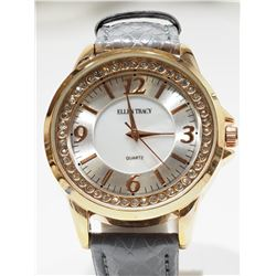 ELLEN TRACY WATER RESISTANT GENUINE LEATHER LADIES WATCH