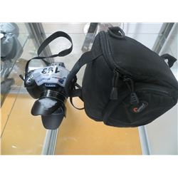 LUMIX DIGITAL CAMERA WITH SHADE AND CASE