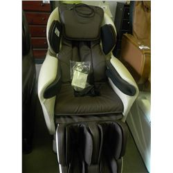 NEW TITAN TP-8400 WHITE AND BROWN LEATHER MASSAGE CHAIR WITH REMOTE