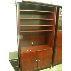 CHERRYWOOD COLOR WALL UNIT WITH DRAWERS