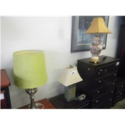 3 MISC TABLE LAMPS (ESTATE GOODS)