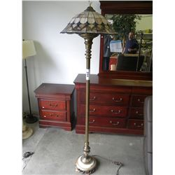 VINTAGE TIFFANY STYLE FLOOR LAMP