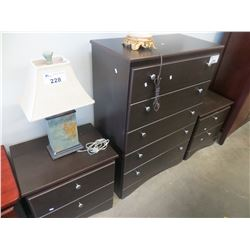 3 PC BEDROOM SUITE DRESSER/2 END TABLES
