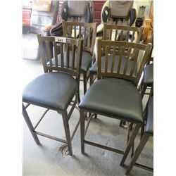 SET OF 4 NEW METAL AND LEATHER  BAR STOOLS