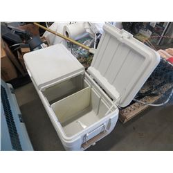 "LARGE COLEMAN 2 DOOR COOLER SIZE 40"" X 18""X 18"" DEEP"