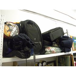 SHELF OF ASSORTED CAMPING GEAR/TENT/SLEEPING BAGS(ESTATE GOODS)