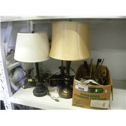 LOT OF ASSORTED LAMPS/AND BRASS FIXTURES (ESTATE GOODS)