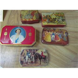 5 Toffee tins