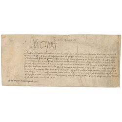 King Henry VIII Signed Document