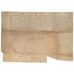 Diane de France Signed Document