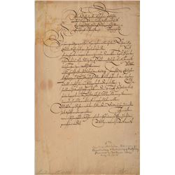 Christian William of Brandenburg Signed Document