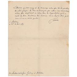 Frederick the Great Signed Letter