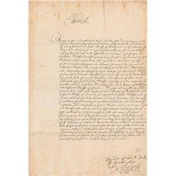 King Charles I Signed Document