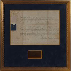 King George III Signed Document