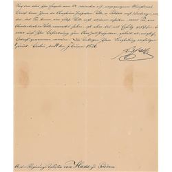 Frederick William III of Prussia Signed Document