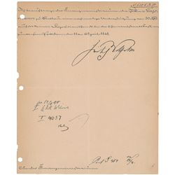 Frederick William IV of Prussia Signed Document