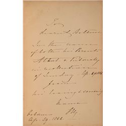 Queen Victoria Signed Book Inscribed to Prince Arthur