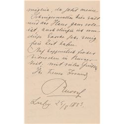 Crown Prince Rudolf of Austria Autograph Letter Signed