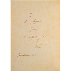 Queen Victoria Signed Book Inscribed to Marquess of Lorne