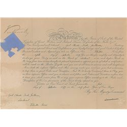 Queen Victoria Signed Document