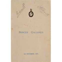 King George VI and King Edward VIII Signed Menu