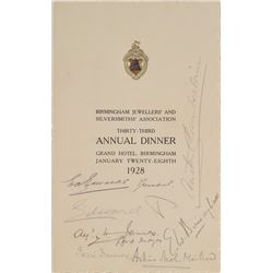 King Edward VIII Signed Program