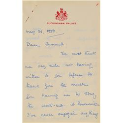 Prince George, Duke of Kent Autograph Letter Signed