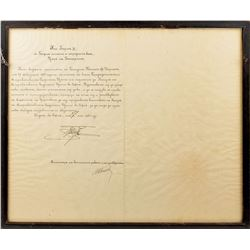 King Boris III Signed Document