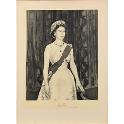 Queen Elizabeth II Oversized Signed Photo