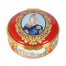 Queen Victoria Halcyon Days Enamel Boxes
